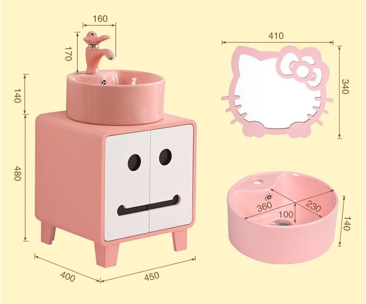 Lavabo tủ cho trẻ em nhựa PVC
