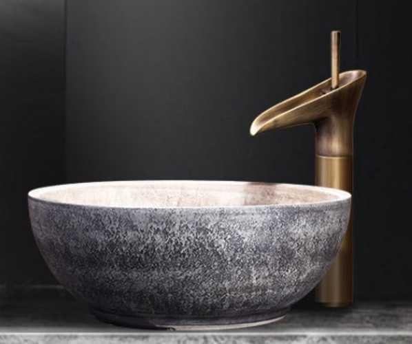 bồn rửa sứ nghệ thuật cho spa